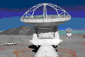 The two telescopes of the Array Operations Site interferometer in tChile
