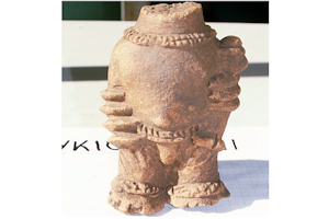 One of the figures excavated in Ghana