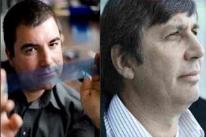 Dr Kostya Novoselov and Professor Andre Geim