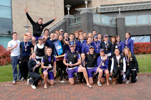 Manchester's winning Boat Race squad