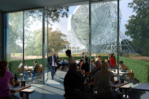 The new  cafe at Jodrell Bank