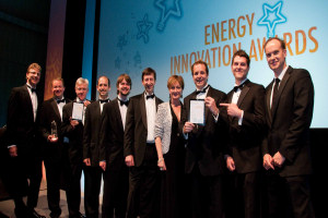 Professor Simon Rowland, fifth from right, with the other award winners