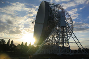 The world-famous Lovell Telescope at Jodrell Bank
