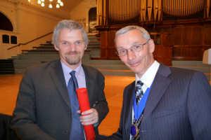 Professor Bill Lionheart (left) with Dr Chris Gibson