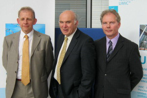 Rod Coombs, Vince Cable, Clive Rowland