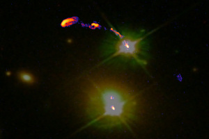 The Double Quasar through e-MERLIN