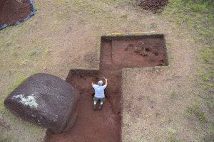 Easter Island excavation