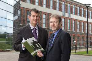 Professor Appleby (right) with Health Minister Edwin Poots MLA at the launch