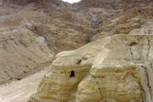Qumran Cave 4, where the scroll was found