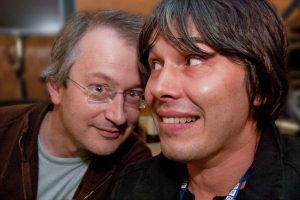 Professor Brian Cox with Robin Ince