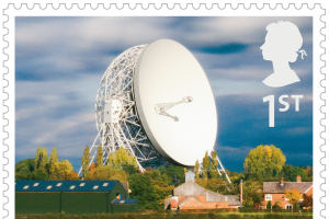 The Lovell Telescope on the new Jodrell Bank stamp