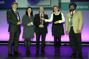 The Manchester team received their award yesterday at the NCRI Cancer Conference