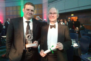Dr Theodoropoulos (left) and Professor Webb with their award