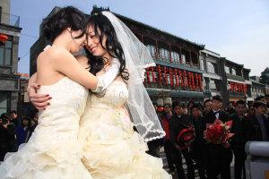 Lesbian marriage in Beijing