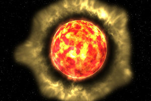 An artist's impression of the red giant (Anna Mayall/University of Manchester)