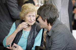 Dame Kathleen with Professor Brian Cox