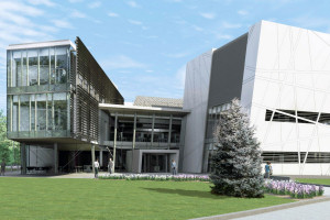 An artist's impression of the new cancer research building