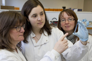 Scientists Professor Wendy Thomson, Dr Joanna Cobb and Dr Anne Hinks