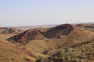 The North Pole area, Pilbara, Western Australia, where the samples came from.