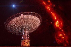 Impression of one of the radio bursts. Credit: Swinburne Astronomy Productions