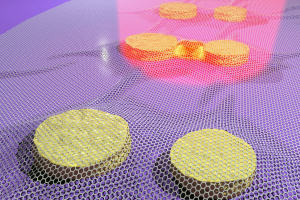 Graphene can be used to see how light interacts with gold nanostructures