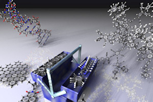 Scientists used a molecule toolbox to create the ribbons (credit: Prof Muellen)