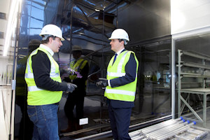 Sir Kostya showing George Osborne the National Graphene Institute