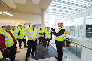 James Baker leads a tour of the NGI