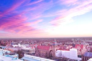 University sunset