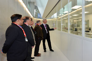 James Baker giving a tour of the NGI cleanrooms