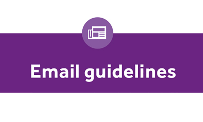 Email guidelines graphic