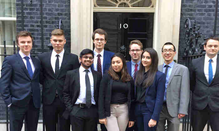 Students visit No10
