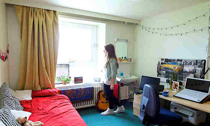 Student in hall of residence