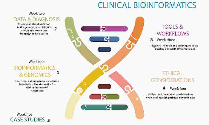 Clinical Bioinformatics MOOC diagram
