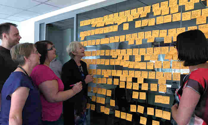 Nancy Rothwell visits the Student Lifecycle Project
