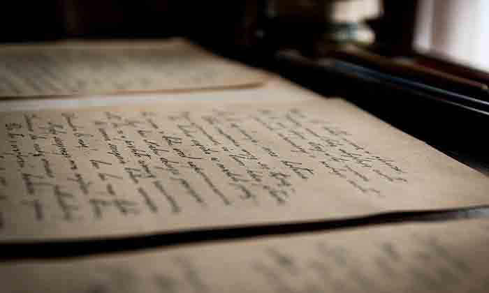 Image taken of a letter with traditional handwriting