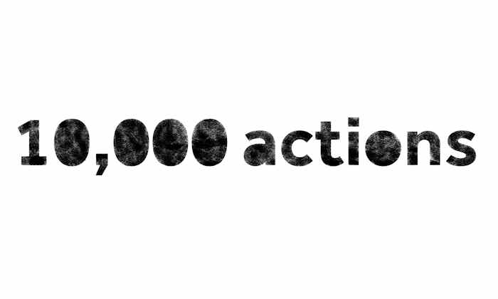10,000 Actions