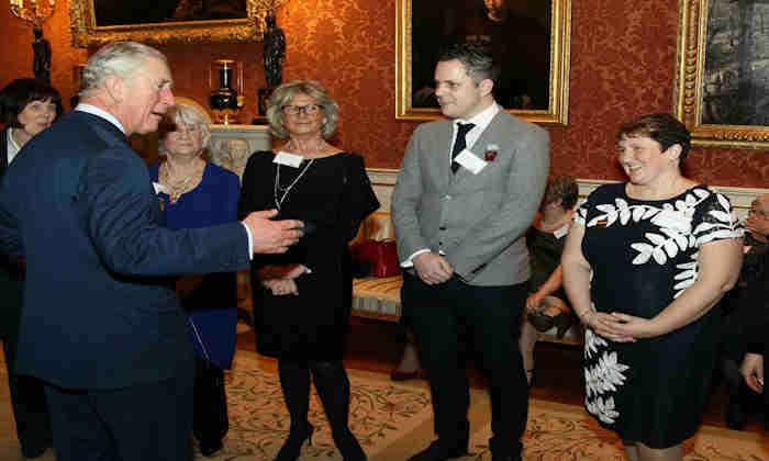Sally Shelmerdine meeting HRH The Prince of Wales