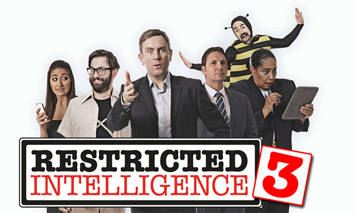 Restricted Intelligence logo and characters