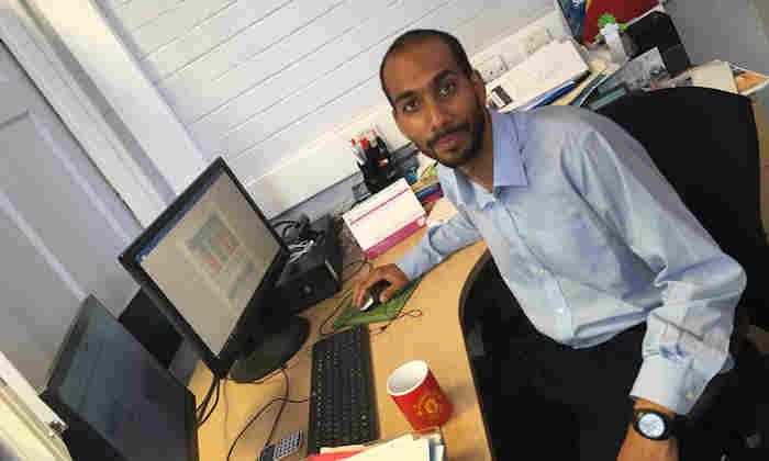 Sami Karamalla-Gaiballa at his desk