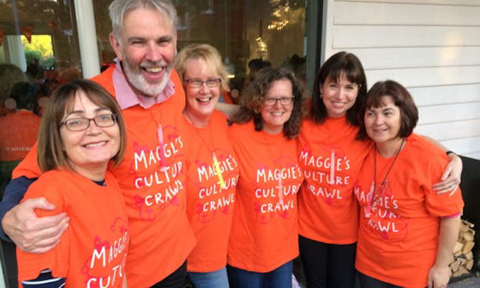 Staff at Maggie's Cancer Centre's Culture Crawl