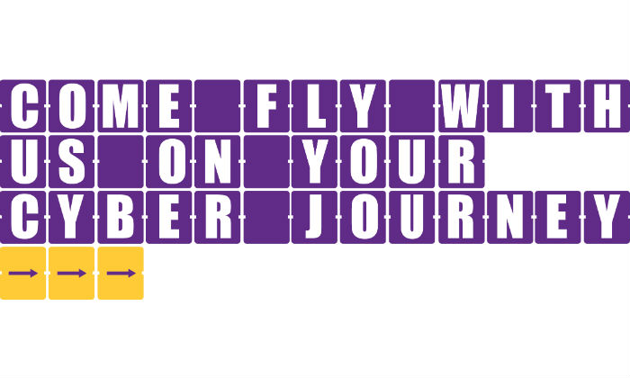 Come fly with us cyber security campaign