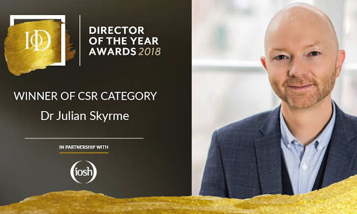 Dr Julian Skyrme at the Institute of Directors awards