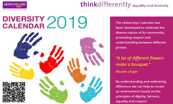 Diversity calendar 2019