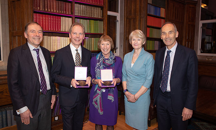 University Medals of Honour for Rowena Burns and Clive Rowland