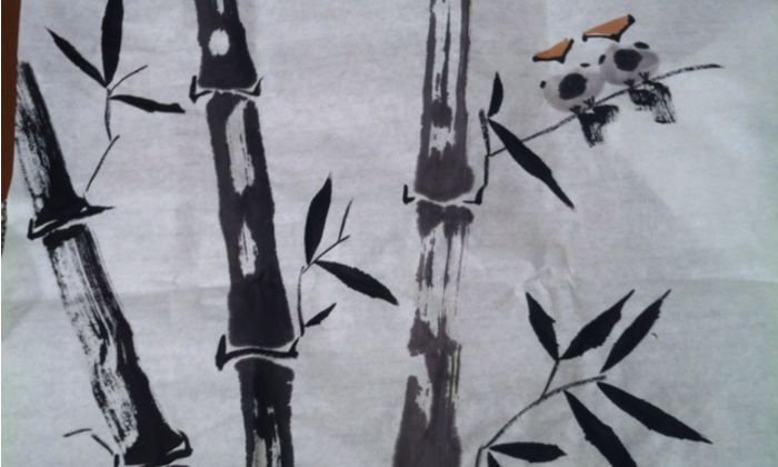 Example of Chinese brush painting drop