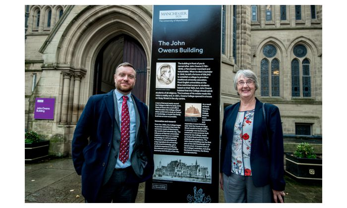 New University history displays unveiled