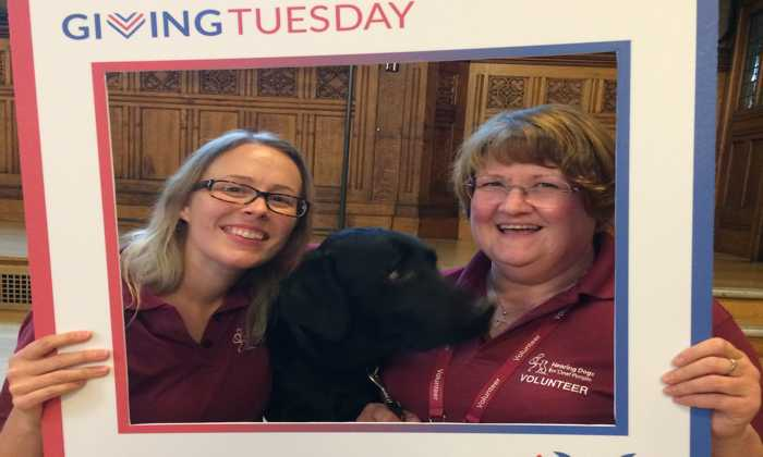Volunteers with Hearing Dog