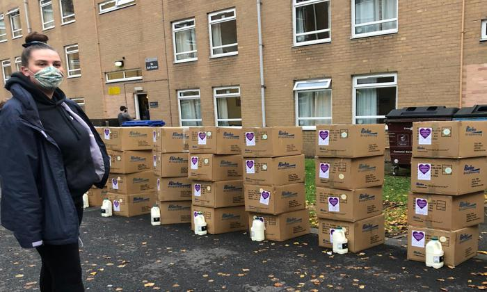 Meals delivered to students