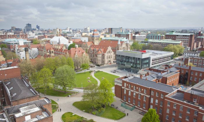 University of Manchester aerial view